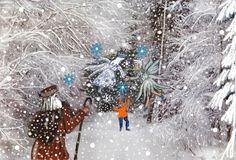Nikolaus mit Prinzessin Schneeflocke