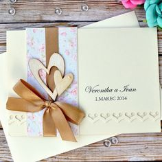 Vintage handmade wedding invitation