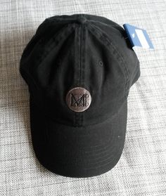 """cee75910f3d Size  """"One size fit"""" with an adjustable belt slider Material  cotton Brand  new MMA NY baseball cap. All black with gray logo."""