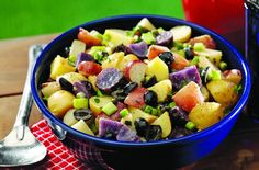 potatoes, diced 1/2 pound Yukon Gold potatoes, diced 1/4 pound purple ...