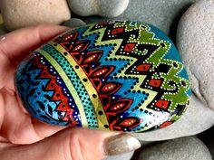 African Princess / painted rocks/ painted stones/ tribal art / boho art / hippie art / hand painted rocks / coffee table art / desk art by LoveFromCapeCod on Etsy