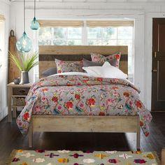 Lightweight Flower Quilt | Robert Redford's Sundance Catalog Wooden Furniture, Unique Furniture, Pine Bedroom Furniture, Reclaimed Furniture, Furniture Decor, Organic Cotton Sheets, Lightweight Quilt, Flower Quilts, Diy Interior