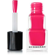 Burberry Beauty Nail Polish - Bright Coral Red No.414 (39 BAM) ❤ liked on Polyvore featuring beauty products, nail care, nail polish, burberry, shiny nail polish and burberry nail polish
