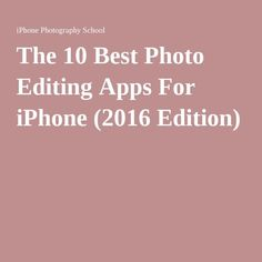 Discover the 9 best photo editing apps for improving your iPhone photos. With these apps you can turn your images into stunning masterpieces! Professional Photo Editor, Good Photo Editing Apps, Image Editor, School Photography, Iphone Photography, Photo Effects, Improve Yourself, Cool Photos, Software