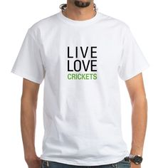 Shop Live Love Crickets Men's Classic T-Shirts designed by OddMatter. Lots of different size and color combinations to choose from. Biology Humor, Chemistry Jokes, Grammar Humor, Science Jokes, Cricket Whites, Cricket T Shirt, Fade Designs, Kids Songs, Live Love