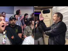 Mark Hamill surprises fans on 'Star Wars' ride at Disneyland - YouTube