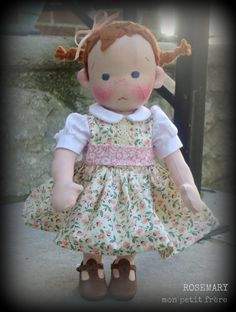 Rosemary--handmade doll by Mon Petit Frère
