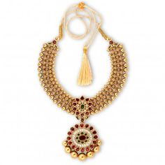 Ethnix Gold Necklace- malabar jewellers