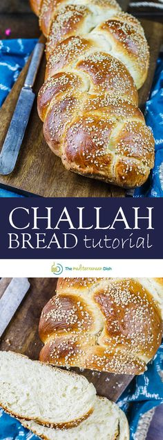 Easy challah bread recipe & tutorial with photos! Anyone can make this satisfying braided loaf enriched w/ eggs and topped with sesame seeds. Keeps well! Challah Bread Recipes, Healthy Bread Recipes, Fish Recipes, Lunch Recipes, Cooking Recipes, Challah French Toast, Diet Desserts, Bread Machine Recipes, Mediterranean Dishes