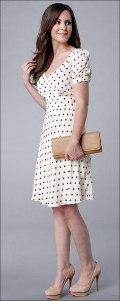 111 inspired polka dot dresses make you look fashionable (3)