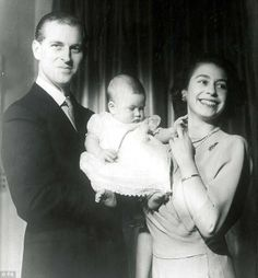 Prince Charles as a baby.