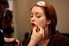 A make up guide for different shades of redheads.