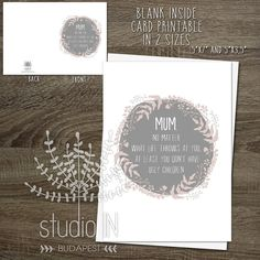 funny mother's day card funny card mum card by StudioInBudapest