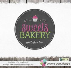 cupcake logo baking logo premade logo bakery logo by autumnscreek