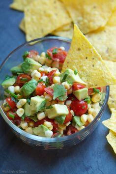 5. Avocado Corn Salsa - 7 Salsa Recipes That Will Change Your Life ... → Food