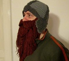 Hey, I found this really awesome Etsy listing at https://www.etsy.com/listing/126242151/beard-hat-dwarf-helmet-red-brown-beard
