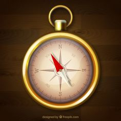 Wooden background with compass Free Vect. Free Maps, Vector Photo, Wooden Background, Free Travel, Vector Free