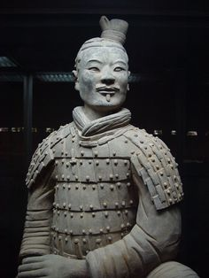 The life-size figures of the terracotta army