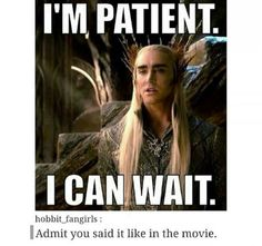 Admit you said it like the movie...< I DID  Man, Lee Pace did such an iconic work as Thranduil , it will never get old