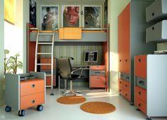 déco chambre ado orange