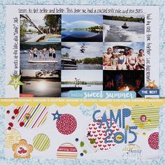 Bella Blvd Family Frenzy collection. Camp 2015 layout by guest designer Katie Rose.