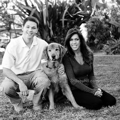 san diego family photo session with dog