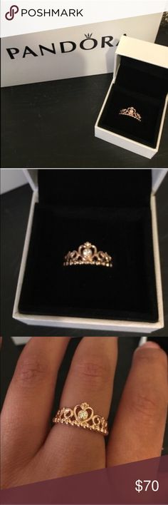 Pandora Rose Gold Princess Ring Brand new comes with box Pandora Jewelry Rings