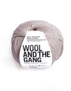Timber Wolf Shinny Happy Cotton by Wool and the Gang  #cotton #yarn #beige