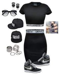 """""""Loving life!!"""" by javall-bridges ❤ liked on Polyvore featuring NIKE, Ally Fashion, Pieces and Misbehave"""