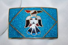 Peyote Bird on  Crushed Turquoise Inlay  Alpaca Belt by TheSoul