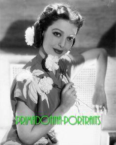 Loretta Young 8x10 Lab Photo B Amp w 1930s Stunning Carnations Flower Portrait | eBay