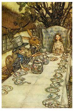 Mock Turtle Alice In Wonderland Rackham Fabric Cushion Craft Quilting Panel