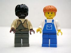 Jim y Huckleberry de Lego.