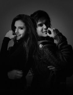ian somerhalder and nina dobrev -delena *-*