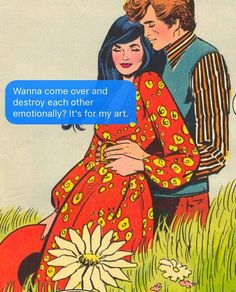 Sext: do you think it's sexy when I write bad poetry abt you? w/ #vincecolletta for DCs #younglove, April 1972.
