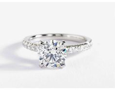 1.5 Carat Diamond French Pave Diamond Engagement Ring | Recently Purchased | Blue Nile