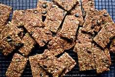 Scandinavian Multi-Seed Crispbread Recipe with A Fragrant Twist - food to glow Vegan Snacks, Vegan Recipes, Vegan Food, Crispbread Recipe, Twisted Recipes, Savoury Baking, Bread Cake, Fennel Seeds, Cakes And More