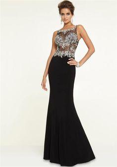 Mori Lee 97146 Sparkly Sheer Beaded Long Prom Dresses