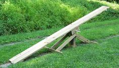 My kids would thoroughly enjoy this...and so would I! How to build a teeter totter in your backyard