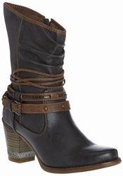 Mustang shoes grijs laarsje 1147-508-20. #mustangshoes 79,95 #purmerend #grotematen #damesschoenen #laarsjes #enkellaarsjes