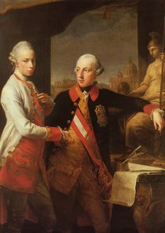 Portrait of Emperor Joseph II (right) and his younger brother Grand Duke Leopold of Tuscany (left), who would later become Holy Roman Emperor. Date: Current Location: Kunsthistorisches Museum. Francisco Goya, European History, Art History, Joseph, Jean Antoine Watteau, Kunsthistorisches Museum Wien, Maria Theresia, Grand Duc, Royal Families