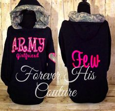 ARMY Girlfriend ACU camo hood pullover Army by ForeverHisCouture