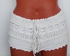 woman crochet shorts