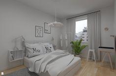 Biała, zmysłowa sypialnia - zdjęcie od Dizajnia art - studio projektowe…