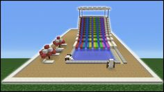 Minecraft Tutorial: How To Make A Water Slide (Mini Water Park) - YouTube