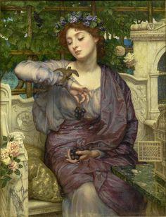 "Sir Edward John Poynter ""Lesbia and her Sparrow"" 1907   Flickr - Photo Sharing!"