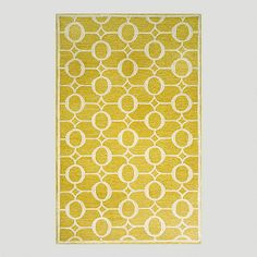 One of my favorite discoveries at WorldMarket.com: Yellow Arabesque Indoor-Outdoor Rug