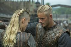 Porrun the Shieldmaiden with Bjorn Ironside Lothbrock son of King Ragnar by AngelSpringFire