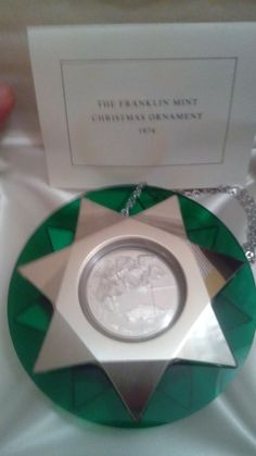 Sterling Silver Christmas Ornament Mint in Box Franklin Mint 1974. Mint In Box/