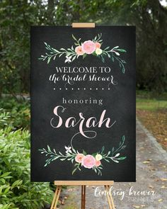 Welcome to Our Wedding Sign Navy Floral Customizable Poster Size- Blush Pink Flowers Navy Back - DIG Unplugged Wedding Sign, Wedding Signs, Wedding Ideas, Wedding Stuff, Bridal Shower Welcome Sign, Welcome To Our Wedding, Wedding Bridesmaid Flowers, Blue Wedding, Dream Wedding